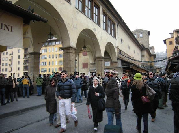 La calle interior del Ponte Vecchio