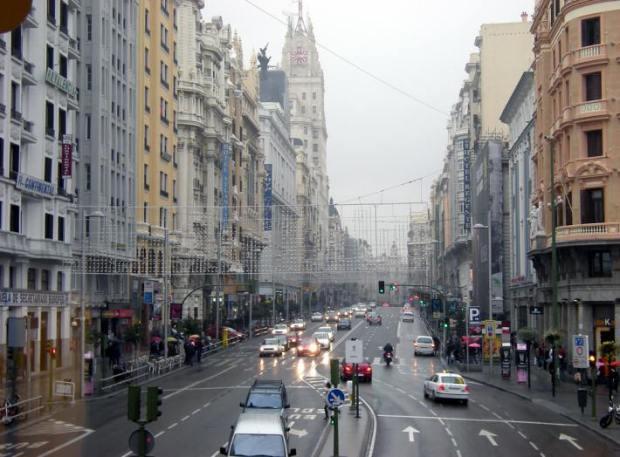La Gran Vía de Madrid, una de las principales arterias comerciales y de actividad del centro histórico de Madrid