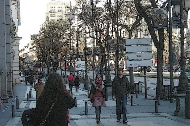 Andando por la Calle de Alcalá