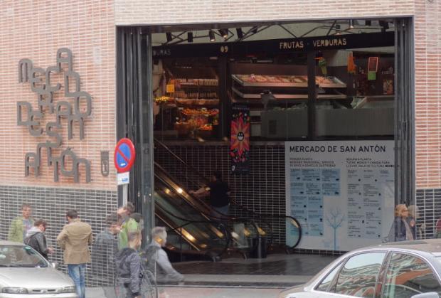 La entrada al Mercado de San Antón