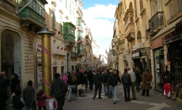 Republic Street, la calle comercial central de La Valleta