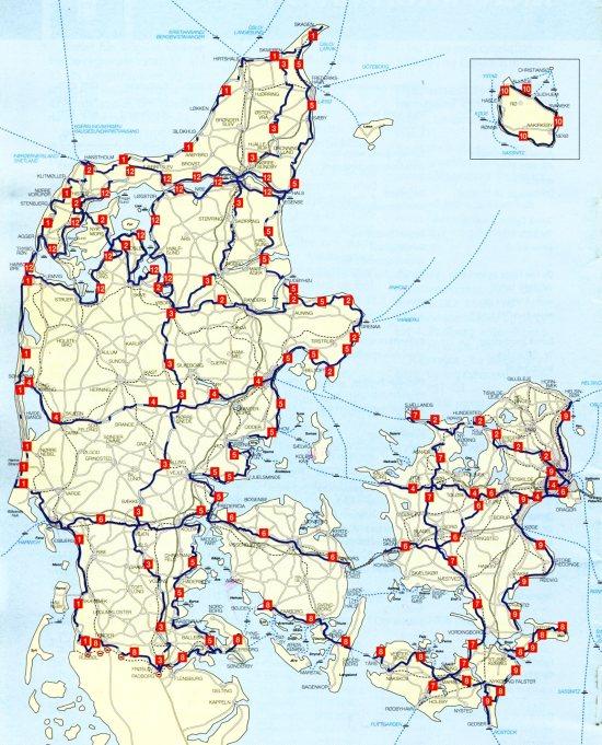 Las rutas nacionales ciclistas de Dinamarca