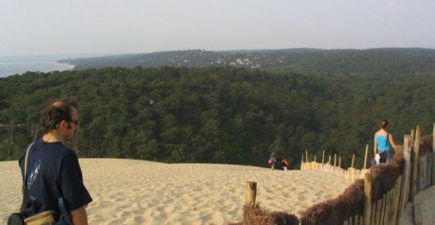 El bosque de las Landas visto desde la duna de Pyla. A la izquierda el Océano