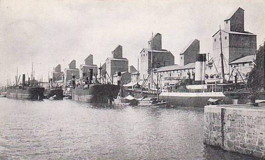 Elevadores de grano en Puerto Madero