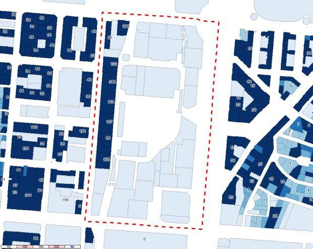 Superficie de vivienda por parcela y, para ciertas parcelas, número de viviendas