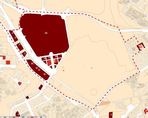 Localización de las superficies de oficinas