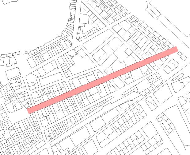 La calle Campos: 500 m de centralidad