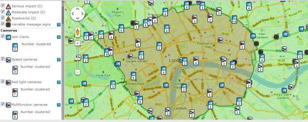 camaras congestion london