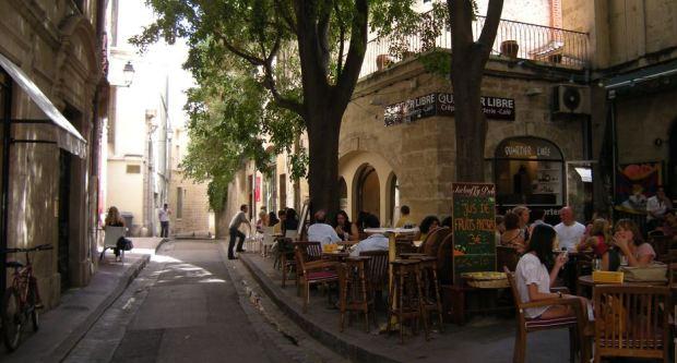 El verano de 2008 en el centro de Montpellier