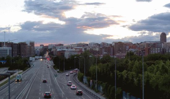 Vista hacia el centro desde la A3 (Carretera de Valencia)