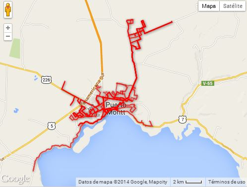 Líneas transporte urbano puerto montt (www.loslagos.transporteinforma.cl)