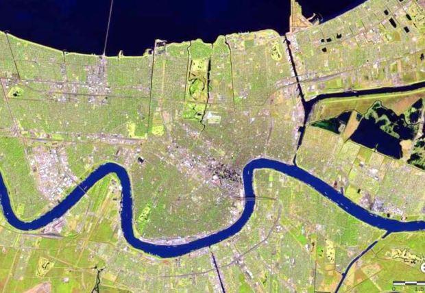 Nueva Orleans (imagen de http://landsatlook.usgs.gov/)