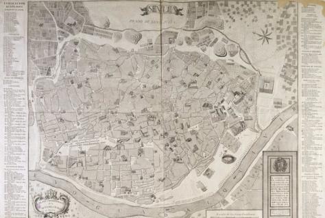 Sevilla en 1771. Hay más complejidad, aunque no tanto crecimiento.