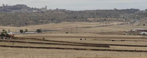 Trujillo, provincia de Cáceres, región de Extremadura, España, visto desde el sur