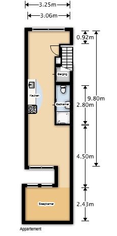 40 m2 en el centro de Amsterdam