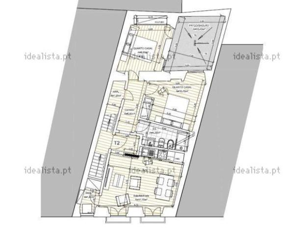 71 m2 en el centro de Lisboa (primero sin ascensor)