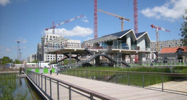 La estación del trazado ferroviario que cortará parte del parque por la mitad