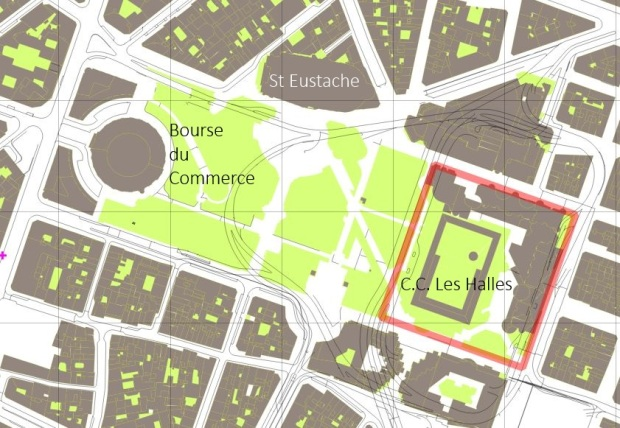 Zona de Les Halles, Paris