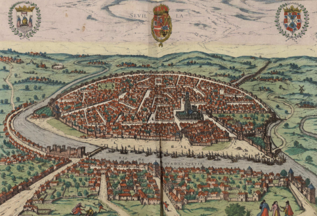 Sevilla en 1590, por Georg Brown. En la Biblioteca Nacional de España