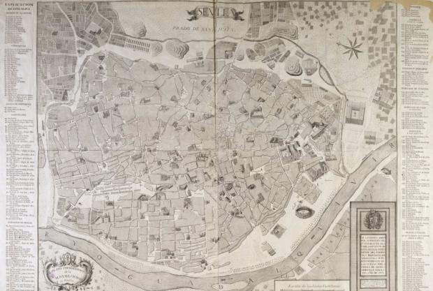 Sevilla en 1771, por Olavide. En la Biblioteca Nacional de España