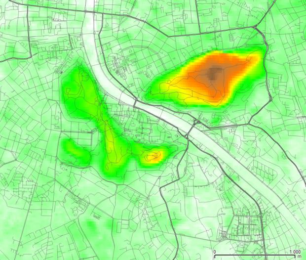 El relieve en la zona urbana, según datos ASTER