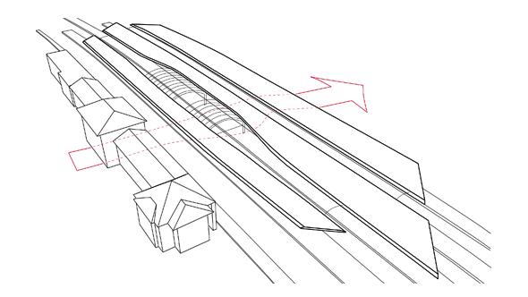 Descripción gráfica de la estación por los arquitectos