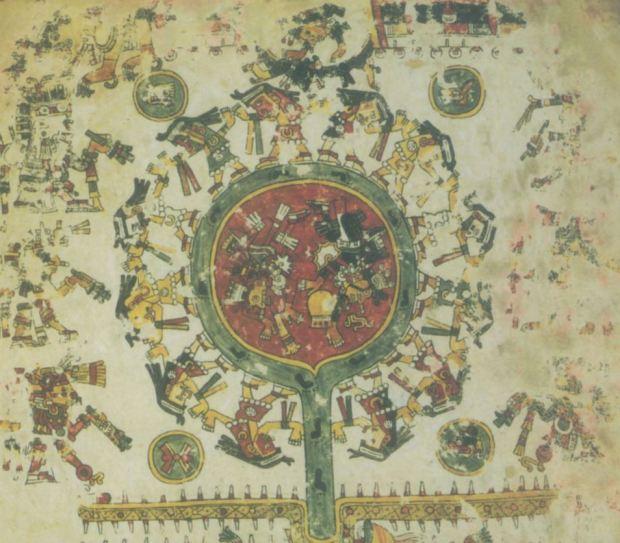 Venus como estrella del alba en el Codex Borgia (libro tercero de la publicación)