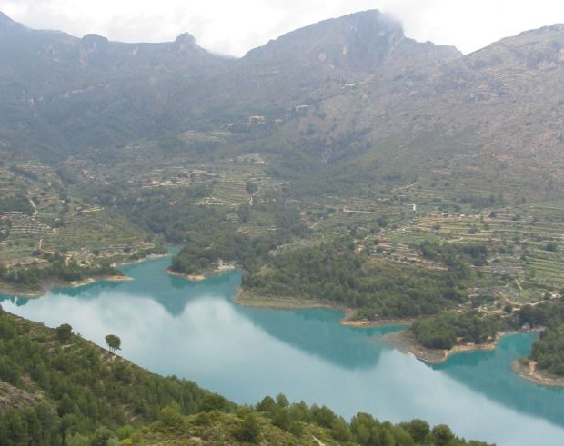 Embalse de Guadalest, en Alicante