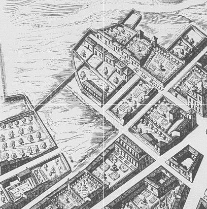 A part of the Texeira Map of Madrid (1656). This is now much denser...